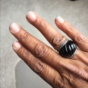 David Yurman Onyx diamond ring 6